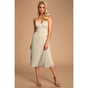 Lulus Delectable Delilah Embroidered Midi Dress